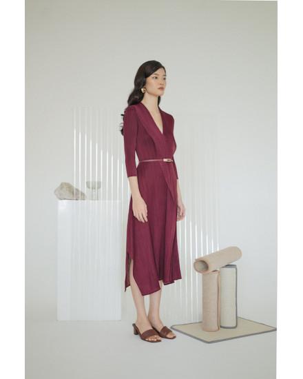 Massey Dress Maroon