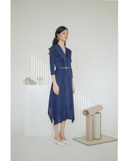 Massey Dress Navy Blue