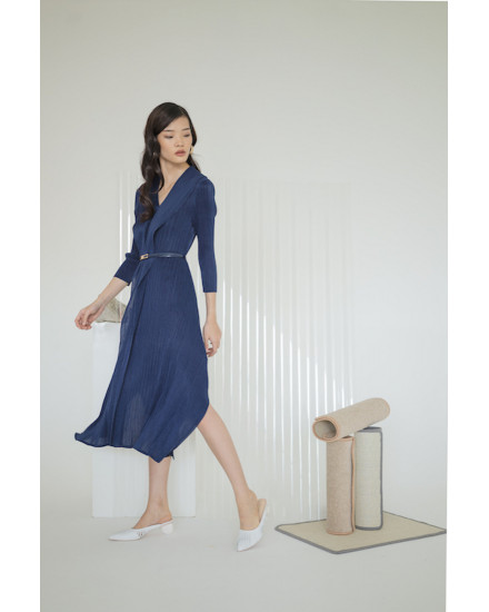 Massey Dress Navy Blue - PREORDER