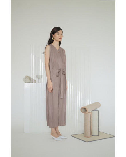 Thea Jumpsuit Taupe - PREORDER