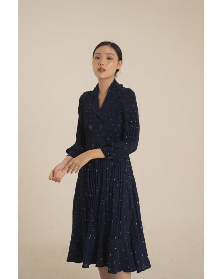 Moxie Dress in Midnight Blue