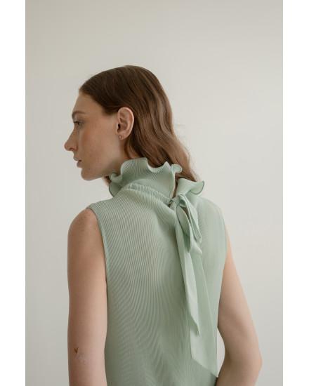 Megan Dress in Pistachio