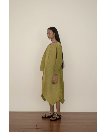 Moss Dress in Lime