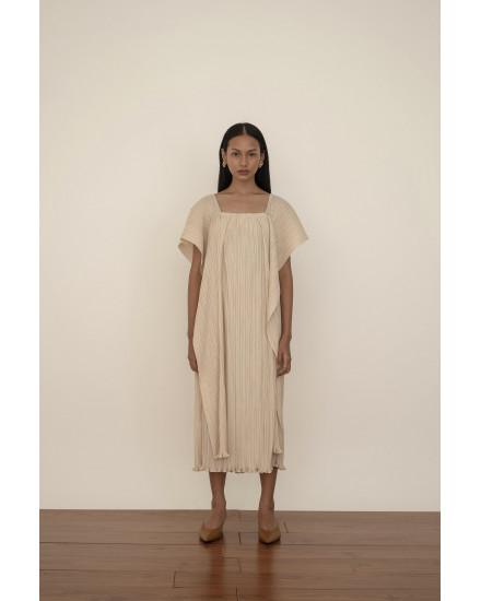 Kaya Dress in Beige