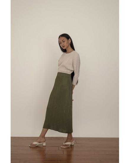 Senna Skirt in Dark Olive