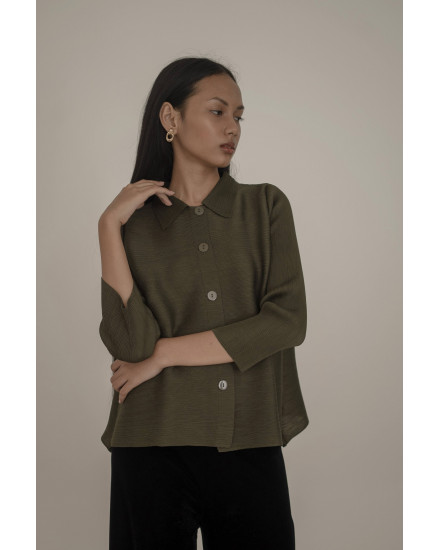 Gani Top in Olive Green - PREORDER