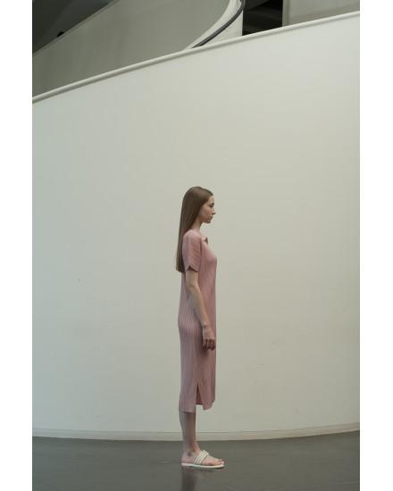 Faye Dress in Dust Pink