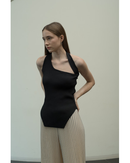 Gelso Knit Top in Charcoal